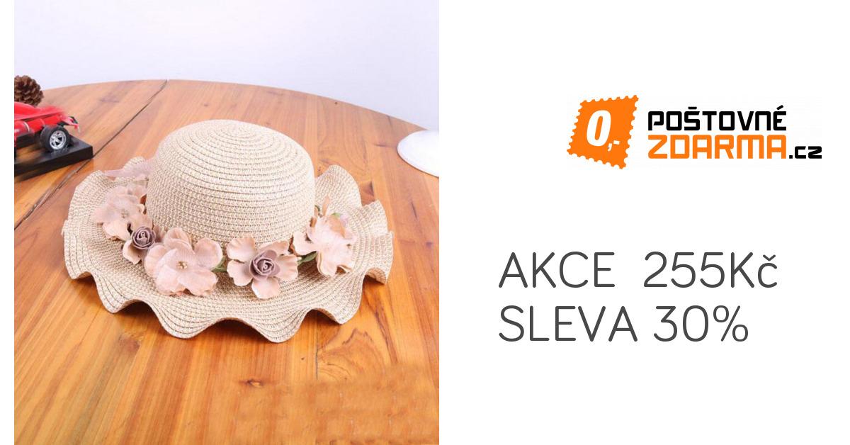 Dívčí slaměný klobouk - 3 barvy  eac89fe882