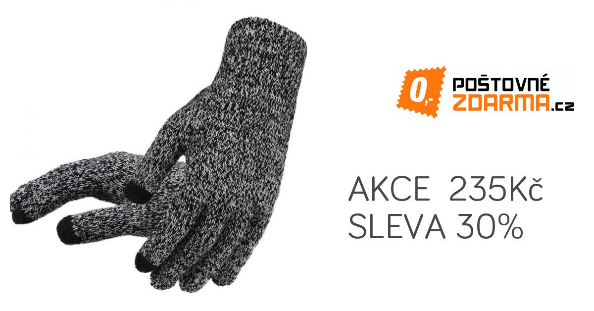 b8240c72771 Pletené pánské rukavice s dotykem na mobil - 6 barev