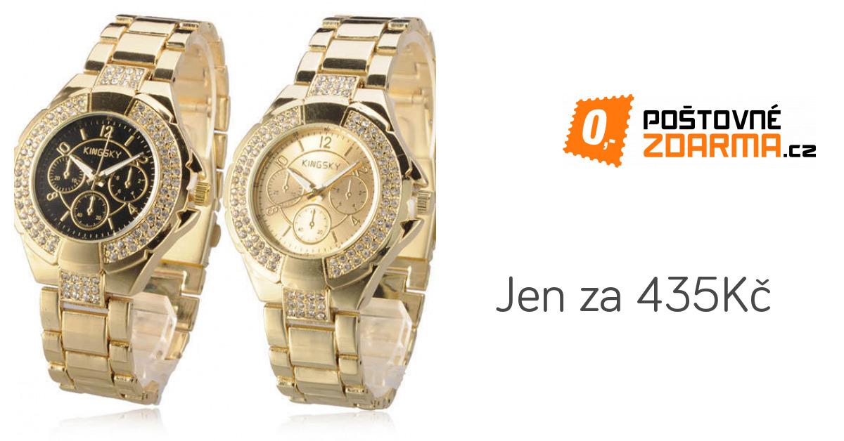 d7fcb5f514c Luxusní dámské hodinky zdobené kamínky - ve 2 barvách - 435 Kč