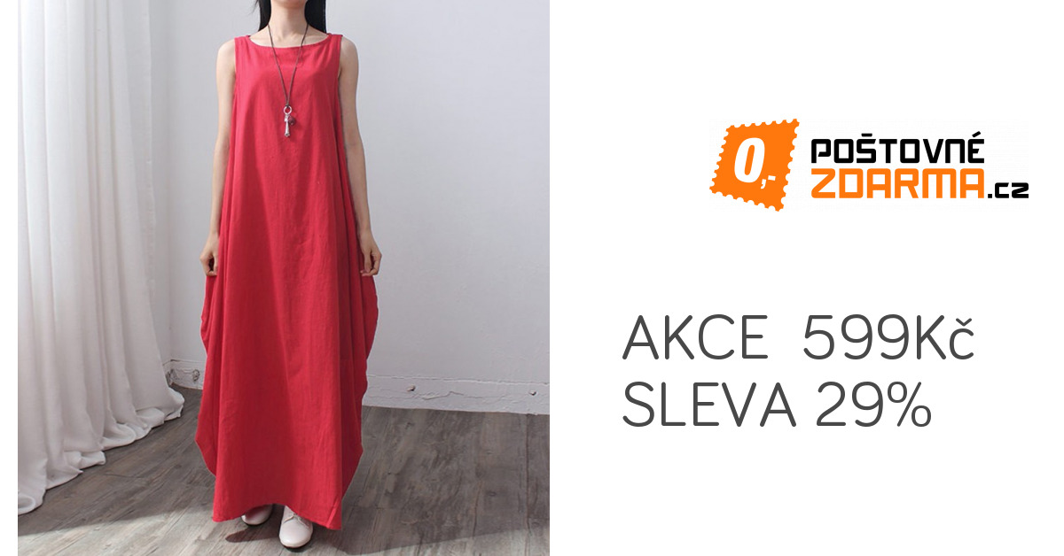 c97be1d311bc Volné a dlouhé maxi šaty na léto - 5 barev