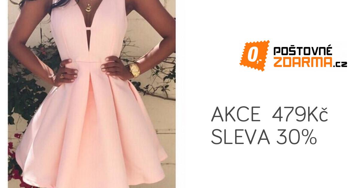 66a0592aa682 Růžové šaty s áčkovou sukní - Šaty - Dámská konfekce - Móda ...
