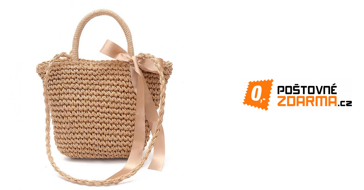 fae4530e845 Slaměná plážová taška - 619 Kč