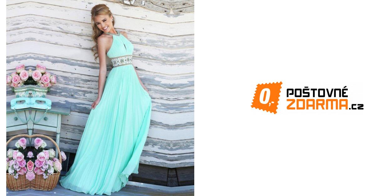 Plesové šaty v tyrkysové barvě  c04fc7ff27