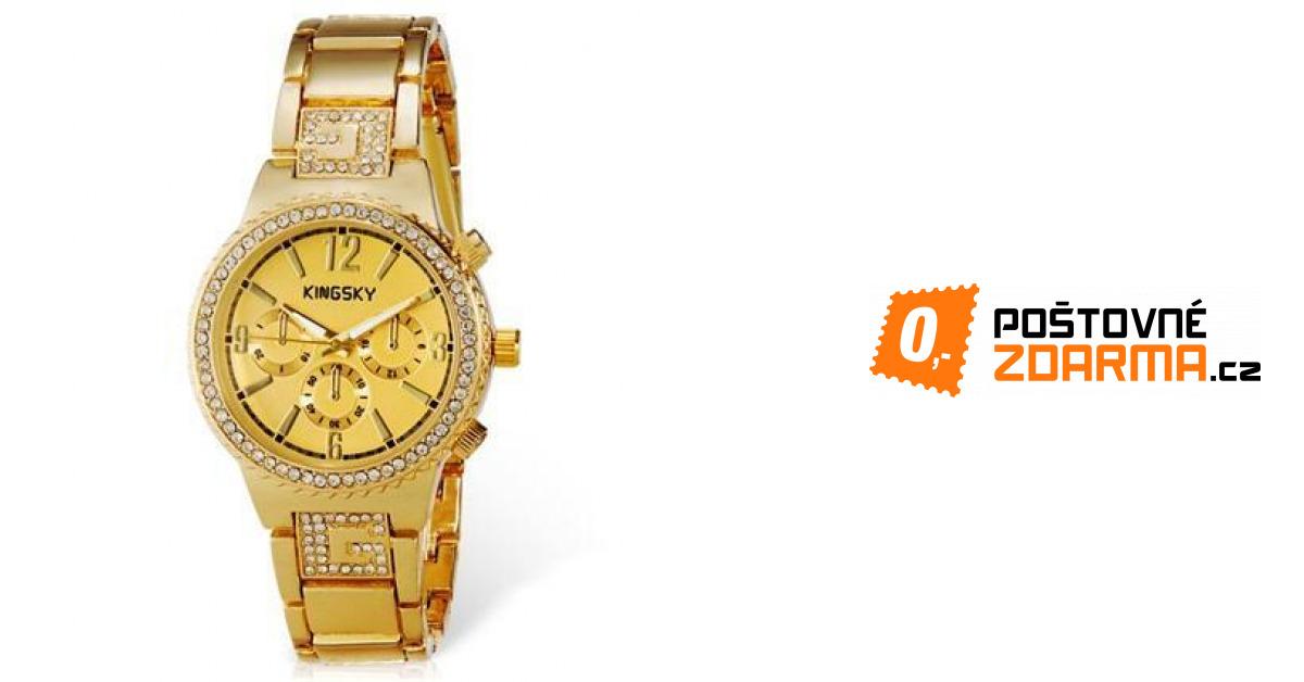 fe12e02e483 Dámské luxusní hodinky KINGSKY s kamínky - 1179 Kč