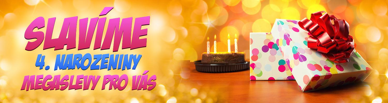 Narozeninové slevy! Slavíme 4. narozeniny!