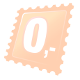 Karabina na klíče ve tvaru čísla 0