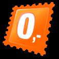 Originální puzetové náušnice - oranžové