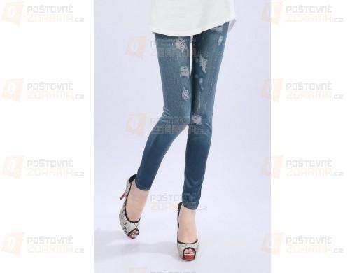 Legíny ve stylu prodřených džínů