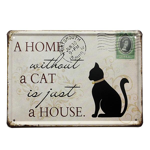 Plechová cedulka pro milovníky koček