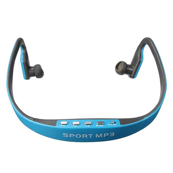 Sportovní bezdrátová sluchátka s MP3 přehrávačem