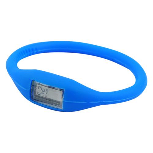 Digitální silikonové hodinky ION - tmavě modrá