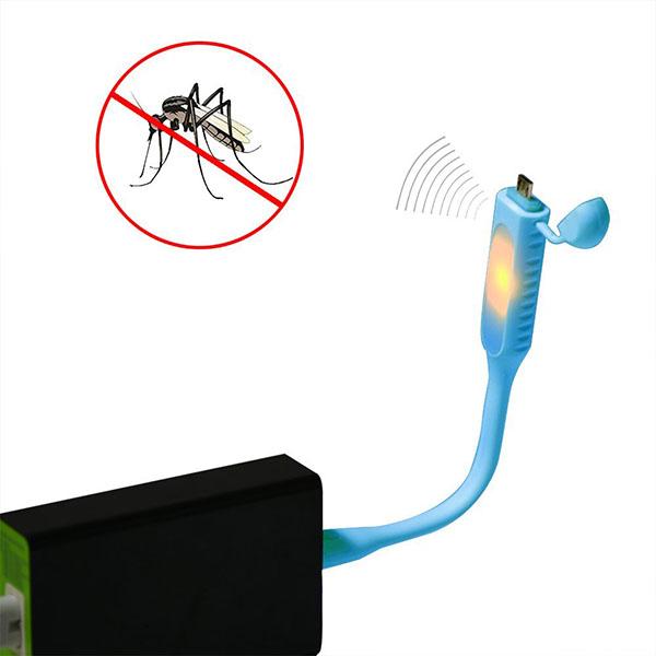 Ultrazvukové USB LED světlo k notebooku proti komárům
