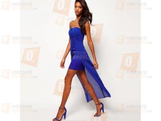 Dámské moderní šaty - modré