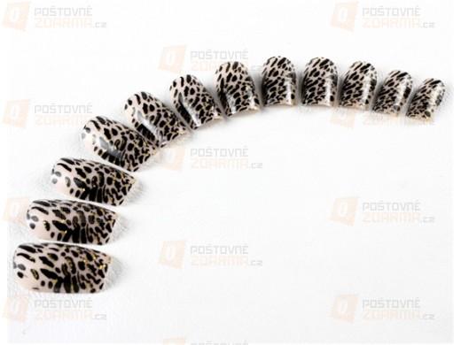 Sada umělých nehtů s leopardím vzorem
