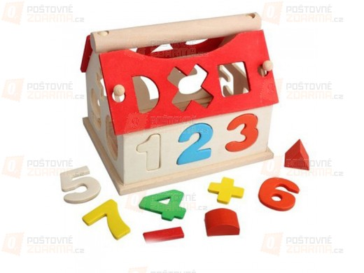 Dřevěný domeček s číslicemi