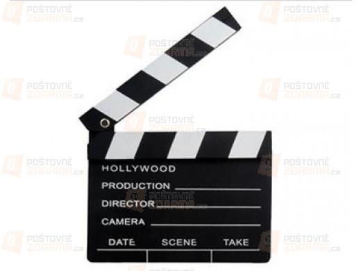 Dřevěná filmová klapka