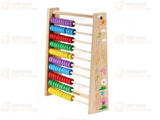 Dětské dřevěné počítadlo