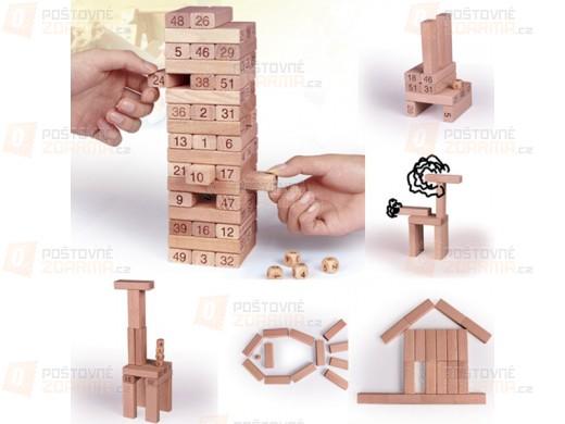 Společenská hra věž - kostky s čísly