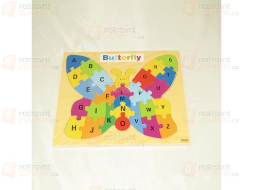Vzdělávací hračka pro děti - puzzle v designu motýla
