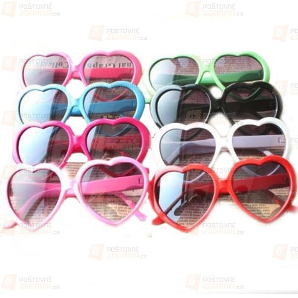 Sluneční brýle ve tvaru srdce - na výběr ze 7 barev