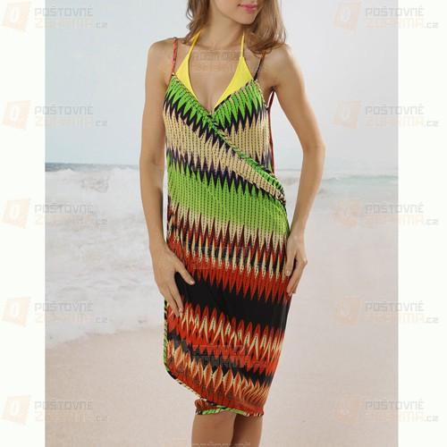 Vzorované plážové šaty