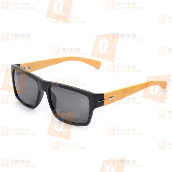 Stylové bambusové sluneční brýle