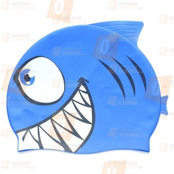 Koupací čepice s motivem žraloka