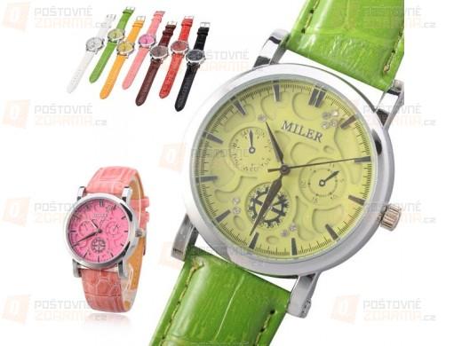 Dámské hodinky MILER s ozdobnými ciferníky - ve více barvách