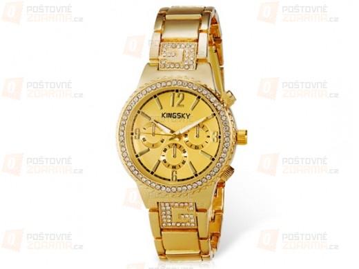Dámské luxusní hodinky KINGSKY s kamínky