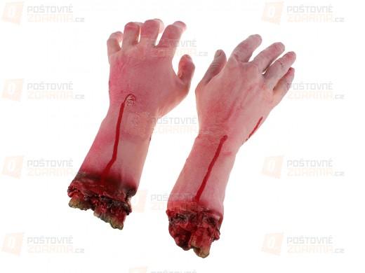 Strašidelné zkrvavené useknuté ruce