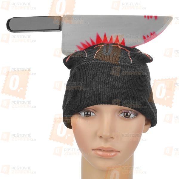 Maska na halloween - krvavý nůž
