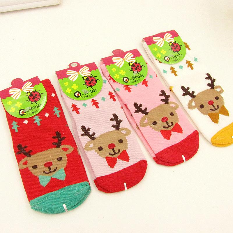 Dětské vánoční ponožky se sobem