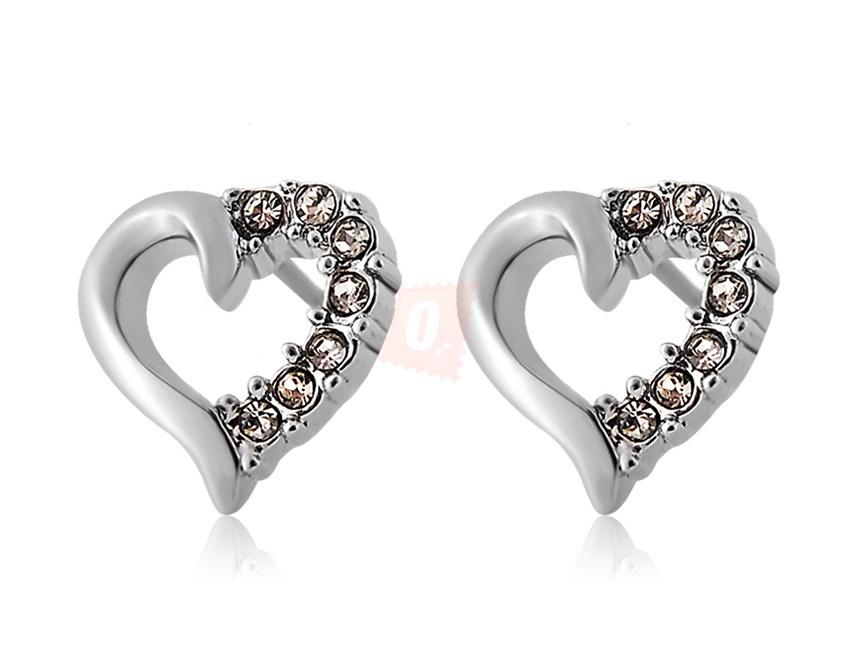 Elegantní náušnice ve tvaru srdce