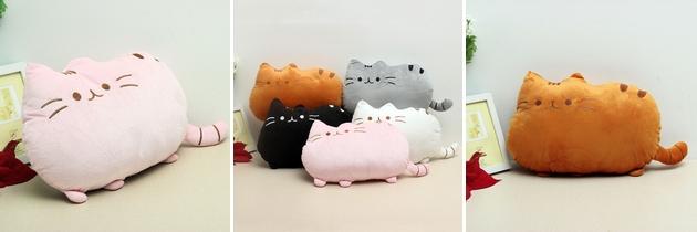 Plyšová kočička v několika barvách
