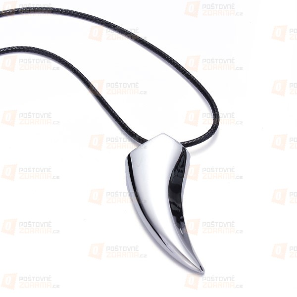 Unisex řetízek s vlčím zubem
