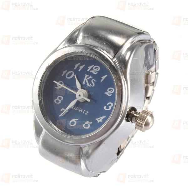 Prstýnkové hodinky s barevným ciferníkem - v 6 barvách