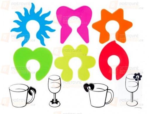 Barevné značky na sklenice