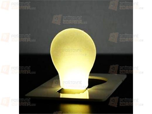 LED světlo do kapsy o velikosti karty