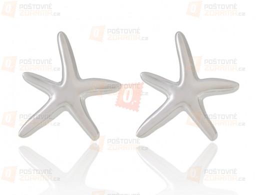 Kovové náušnice tvaru hvězdičky - stříbrné