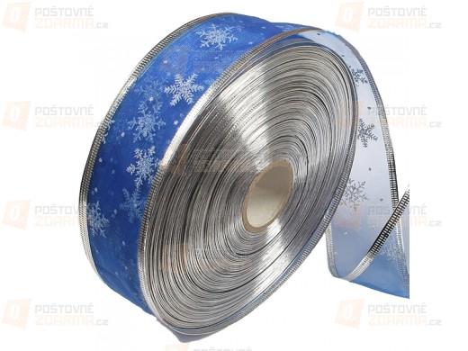 Ozdobná textilní stuha - modrá