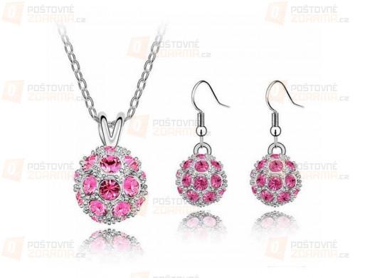 Set elegantních šperků - náušnice a náhrdelník, 6 barev