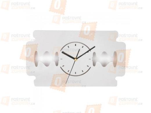 Designové nástěnné hodiny - žiletka