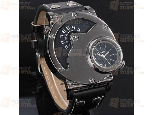 Pánské designové multifunkční hodinky se dvěma ciferníky