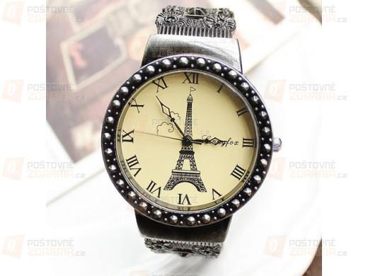 Vintage hodinky s Eiffelovkou