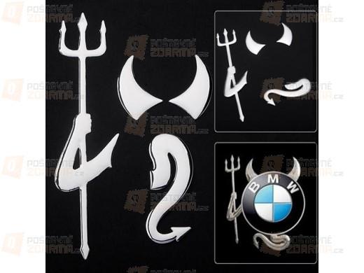 3D nálepka pro logo auta - stříbrná