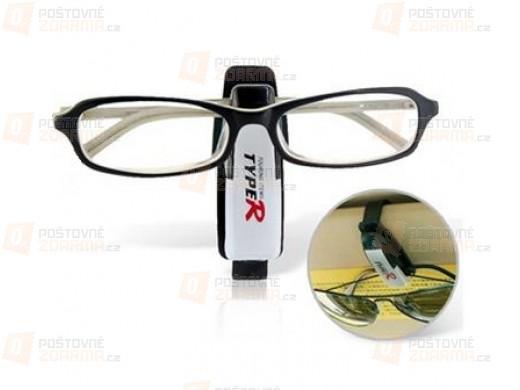 Držák na brýle s praktickým klipem - autodoplněk