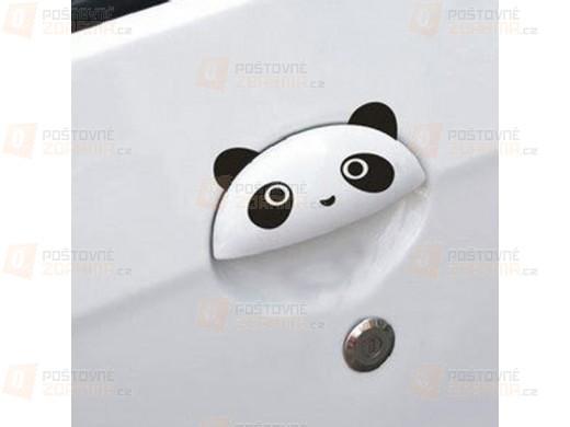 Nálepky s motivem pandy na dveře automobilu - 4 ks