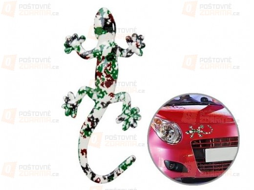 Samolepka na auto ještěrka