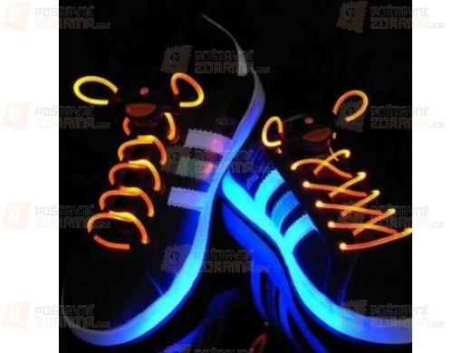 Svítící tkaničky v 16 barevných provedeních