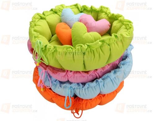 Zvířecí pelíšek s polštářkem ve tvaru srdce - ve 4 barvách